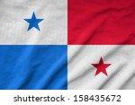 ruffled panama flag | Shutterstock . vector #158435672