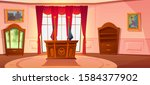 oval cabinet with furniture ...   Shutterstock .eps vector #1584377902