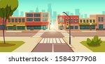 urban street landscape with... | Shutterstock .eps vector #1584377908