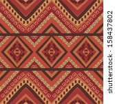 seamless colorful aztec pattern  | Shutterstock .eps vector #158437802