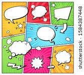 comic books dialog bubbles.... | Shutterstock .eps vector #1584387448