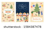 holiday market flyer. christmas ... | Shutterstock .eps vector #1584387478
