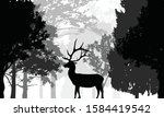illustration with trees and... | Shutterstock .eps vector #1584419542