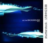 dark blue background  vector | Shutterstock .eps vector #158442338