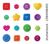 Colorful Sewing Buttons Flat...