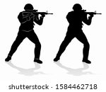 silhouette of a policeman or... | Shutterstock .eps vector #1584462718