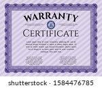 violet warranty template....   Shutterstock .eps vector #1584476785
