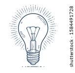 light bulb idea vector simple... | Shutterstock .eps vector #1584491728