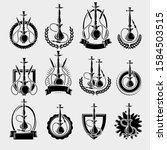 hookah labels and elements set. ... | Shutterstock .eps vector #1584503515