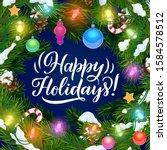 happy holidays  vector poster... | Shutterstock .eps vector #1584578512
