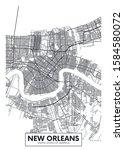 city map new orleans  travel... | Shutterstock .eps vector #1584580072