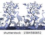 border in chinoiserie style...   Shutterstock .eps vector #1584580852