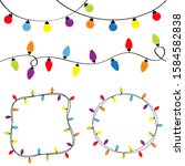 christmas lights set. colorful... | Shutterstock .eps vector #1584582838