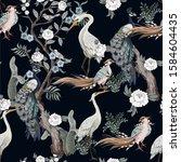 seamless pattern in chinoiserie ...   Shutterstock .eps vector #1584604435