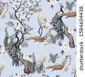 Seamless Pattern In Chinoiserie ...