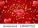 valentines day background with... | Shutterstock .eps vector #1584607918