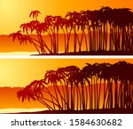 set of simple horizontal... | Shutterstock .eps vector #1584630682