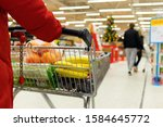 Woman With A Basket Walks In A...