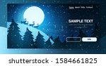 reindeers silhouette over full... | Shutterstock .eps vector #1584661825