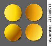 gold round with shadow stickers ... | Shutterstock .eps vector #1584685768
