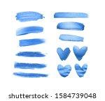 set of shining classic blue...   Shutterstock . vector #1584739048