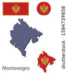 montenegro silhouette and flag... | Shutterstock .eps vector #1584739858
