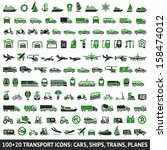 100 and 20 transport green... | Shutterstock .eps vector #158474012
