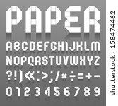 Alphabet Folded Of Paper. Roma...