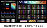 color trends 2020. an example... | Shutterstock .eps vector #1584745162