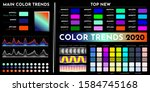color trends 2020. an example... | Shutterstock .eps vector #1584745168