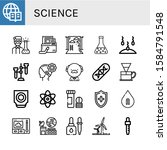 science icon set. collection of ... | Shutterstock .eps vector #1584791548
