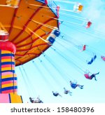 people swing past with motion... | Shutterstock . vector #158480396