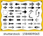 vector arrows of different... | Shutterstock .eps vector #1584809065