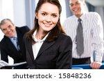 portrait of smiling... | Shutterstock . vector #15848236
