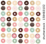 background,blue,brown,cartoon,chocolate,clip art,colorful,design,donuts,drawing,filled,illustration,jelly,pattern,pink