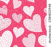 romantic seamless pattern with... | Shutterstock .eps vector #1584832948