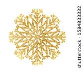 gold glitter texture snowflake... | Shutterstock .eps vector #1584833332