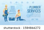 plumbers service landing page... | Shutterstock .eps vector #1584866272