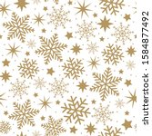 beautiful golden stars and... | Shutterstock .eps vector #1584877492