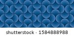 seamless classic blue striped... | Shutterstock .eps vector #1584888988
