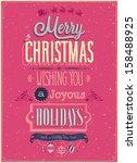 vintage christmas poster....   Shutterstock .eps vector #158488925