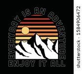 vector mountain with stripe... | Shutterstock .eps vector #1584906472