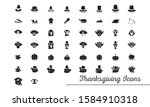 set of thanksgiving silhouettes ... | Shutterstock .eps vector #1584910318