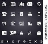 a set of white  business icons | Shutterstock .eps vector #158497352