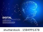 vector silhouette of man head... | Shutterstock .eps vector #1584991378