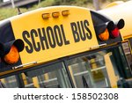 school bus children educational ... | Shutterstock . vector #158502308