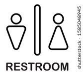 male female toilet restroom... | Shutterstock .eps vector #1585048945