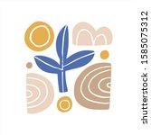 abstract modern art composition ... | Shutterstock .eps vector #1585075312