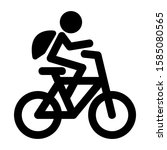 riding bicycle icon isolated... | Shutterstock .eps vector #1585080565