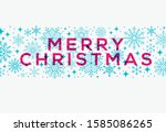 greeting christmas card.... | Shutterstock .eps vector #1585086265